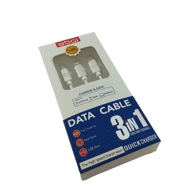 Patch Panda 3u1 USB-Micro USB/USB Type C/Lightning kabl