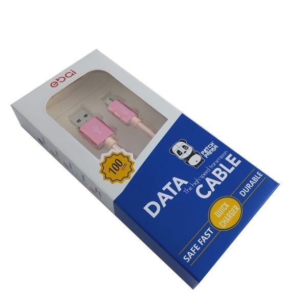 Patch Panda USB-Micro USB kabl - Roze